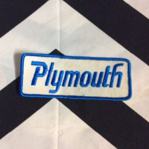 *Deadstock Patch Plymouth LOGO Rectangle Blue White *old stock 1