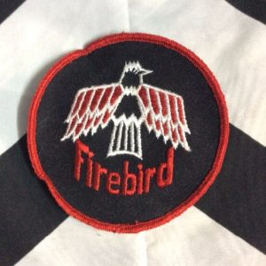 *Deadstock LARGE FIREBIRD EMBROIDERED PATCH ROUND *old stock 1
