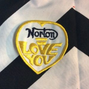 *Deadstock Norton, I love you Patch Yellow & White *old stock 1