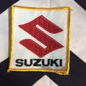 *Deadstock SUZUKI LOGO PATCH SQUARE YELLOW *old stock 1