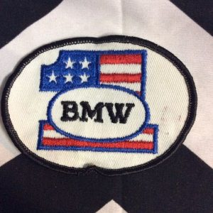 *Deadstock BMW #1 Round American Flag Patch *old stock 1