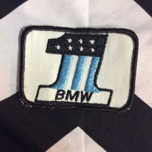 *Deadstock BMW #1 Square Patch Black & Baby Blue Patch *old stock 1
