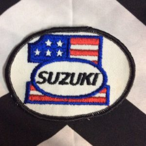 *Deadstock Suzuki #1 Round American Flag Patch *old stock 1