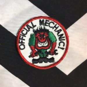 *Deadstock Official Mechanic Patch *ON CARD STOCK *old stock 1
