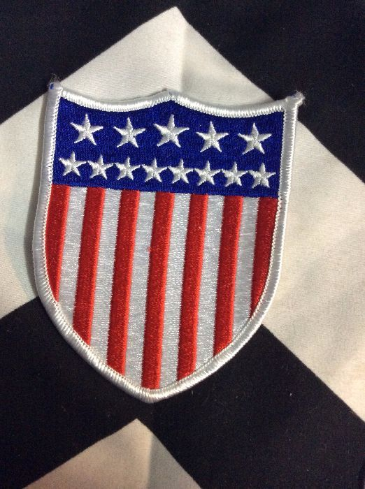 *Deadstock Crest Shield American Flag *old stock 1