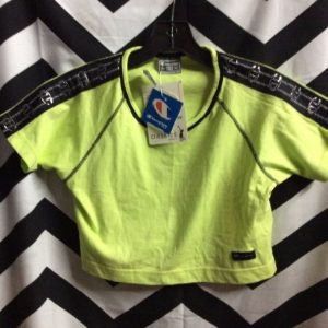 NOS NWT *deadstock SS baby tee 1990s CHAMPION CROPPED TOP 1