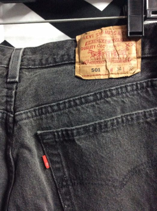 LEVIS 501 Red Tab Faded Black W34 L32 3