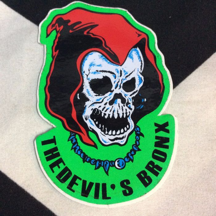 STICKER- Vinyl 1980s REAPER The devil's Bronx 1