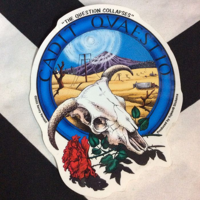 STICKER- Cow Skull & Roses 1