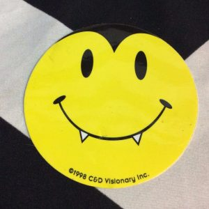 STICKER- SMILEY FACE DRACULA 1