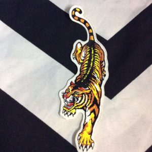STICKER- Vinyl 1980s Pouncing Tiger 1