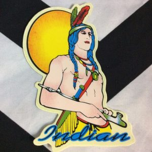 STICKER- Vinyl 1980s Native American 1