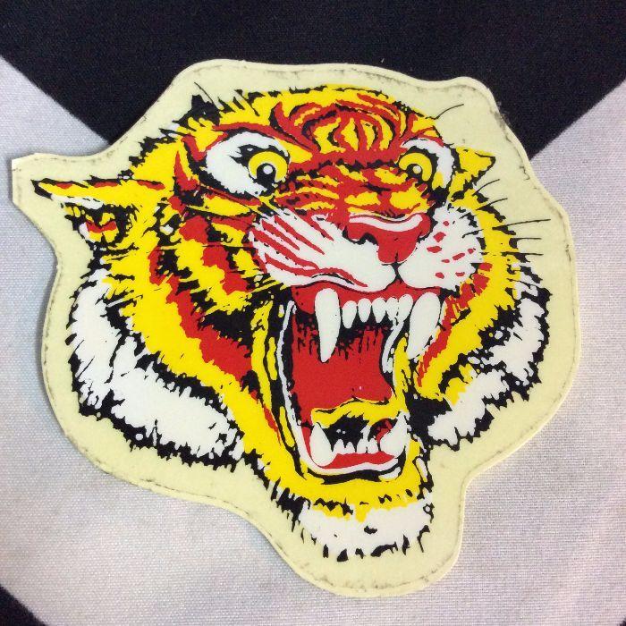 STICKER- Vinyl 1980s Growling Tiger 1