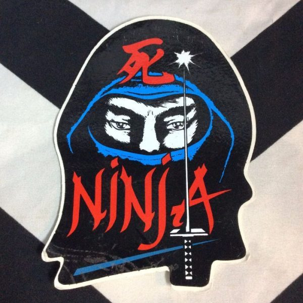 product details: STICKER- VINYL 1980S NINJA LARGE *AS-IS photo