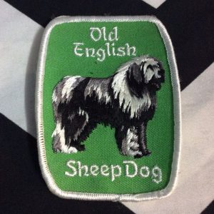 Patch- DOGS- OLD ENGLISH SHEEPDOG Breed green *deadstock *old stock 1