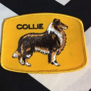 Patch- DOGS- COLLIE Breed yellow *deadstock *old stock 1