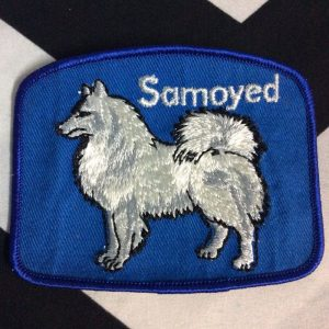 Patch- DOGS- SAMOYED Breed blue *deadstock *old stock 1