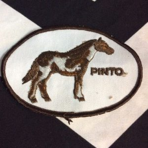 Patch- PINTO HORSE *deadstock *old stock 1