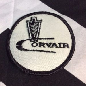 Patch- RETRO Corvair Logo Emblem Silver *old stock 1