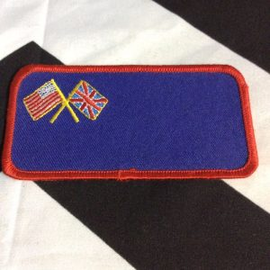 Patch- AMERICAN FLAG & BRITISH FLAG *deadstock *old stock 1