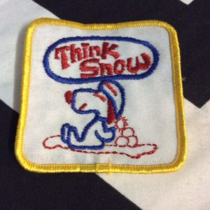 Patch- THINK SNOW Snoopy Retro 1980s *old stock 1