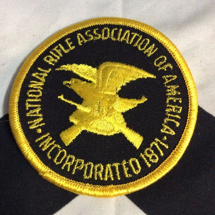 """NRA NATIONAL RIFLE ASSOCIATION EMBROIDERED PATCH 4/"""" Round."""