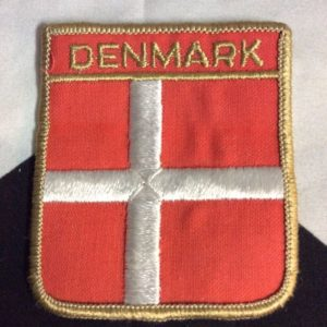 Patch- DENMARK CREST EMBLEM *deadstock *old stock 1