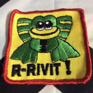 Patch- R-RIVIT! FROG Retro 1970s *old stock 1