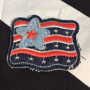 PATCH- AMERICAN FLAG DENIM *OLD STOCK 1