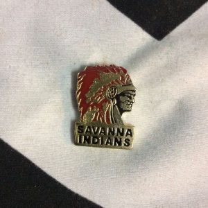 BW PIN - SAVANNA INDIANS 1