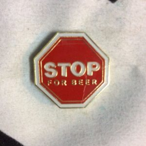 BW PIN - STOP SIGN - W/ 1
