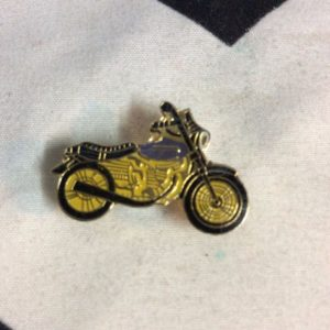 BW PIN- Motorcycle Triumph Blue Yellow- 96 1