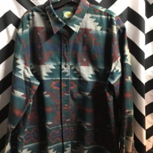 LS BD FLANNEL SHIRT AZTEC DESIGN 1