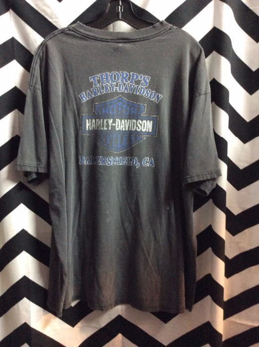 8bdf960f T-SHIRT - HARLEY DAVIDSON - BAKERSFIELD, CA - EAGLE GRAPHIC - FADED ...