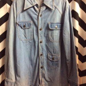 LONGER CUT denim jacket 1970S SOFTTY 1