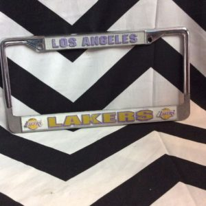 LICENSE PLATE COVERS- LA Lakers 1