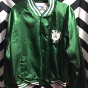 NBA Boston Celtics Satin Button up Jacket 1
