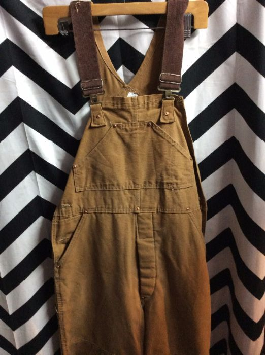CARHARTT INSULATED OVERALLS RED LINING 1