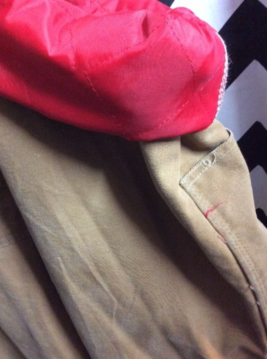 CARHARTT INSULATED OVERALLS RED LINING 3