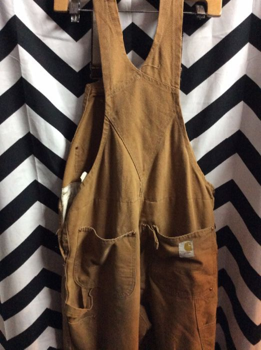 CARHARTT INSULATED OVERALLS RED LINING 2