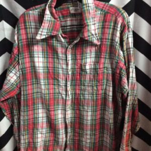 LS BD PLAID FLANNEL SHIRT 1