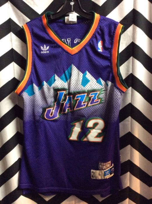 huge discount 23656 0cb85 ADIDAS BASKETBALL JERSEY - UTAH JAZZ - STOCKTON #12