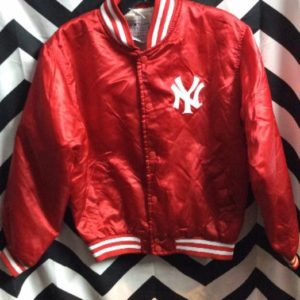 NY YANKEES SATIN JACKET SMALL FIT 1