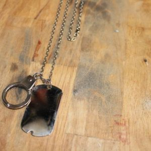 DOGTAG & HANDCUFF NECKLACE Works! Long Link Chain 1