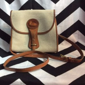 DOONEY & BOURKE STRUCTURED LEATHER CROSSBODY PURSE 1