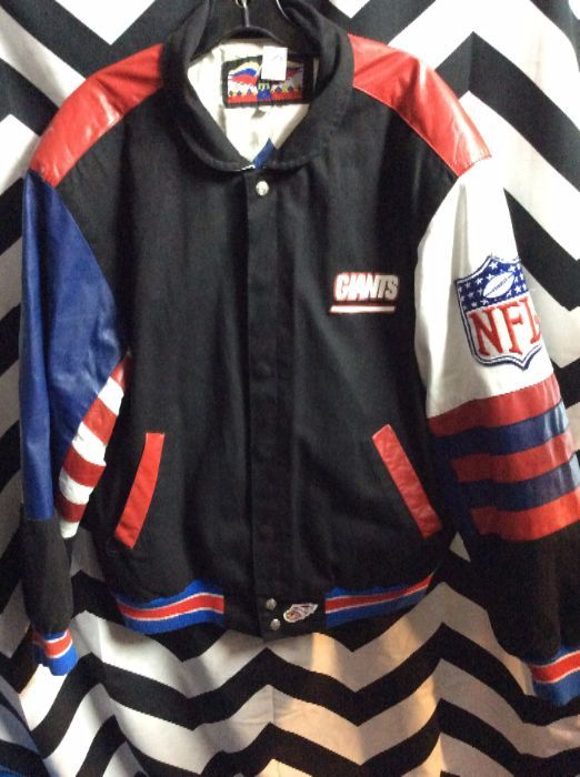 various colors ae4b5 55c47 JACKET - LEATHER - NEW YORK GIANTS - LINED - NFL