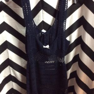 Navy Blue Crochet Dress NWT 1