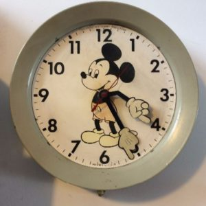 Retro Mickey wall clock as-is 1