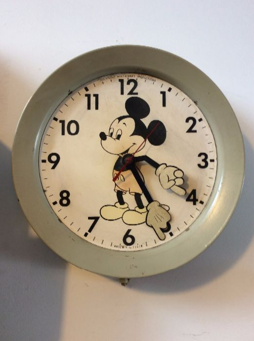 product details: RETRO WALL CLOCK - MICKEY MOUSE - ELECTRIC photo