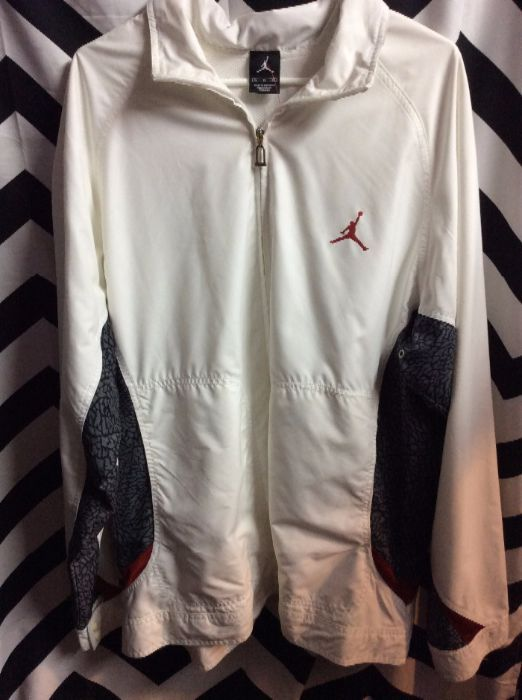 b2b9963b83f NIKE WINDBREAKER JACKET - AIR JORDAN - ZIP-UP - ELEPHANT CRACKLE ...
